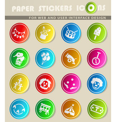 circus icon set vector image