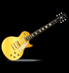 Classic style solid blues guitar vector