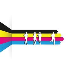 cmyk runners vector image vector image