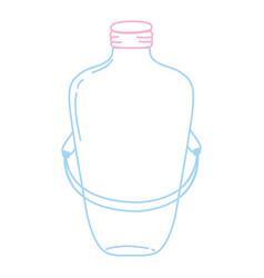 Color line long mason jar with wire handle design vector