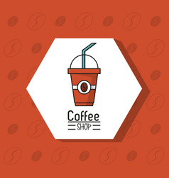 Colorful poster of coffee shop with disposable vector