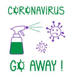 Coronavirus go away poster for motivation vector