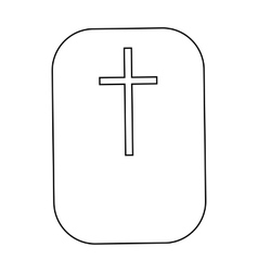 Cross Christian faith symbol icon outline style vector image