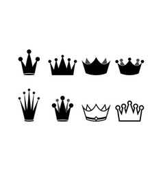 crown clip art design isolated vector image