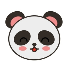 cute bear panda animal tender isolated icon vector image