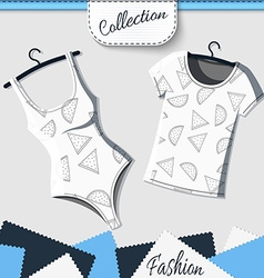 Designer shirts and t-shirts with the background vector image