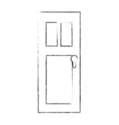 door isolated image vector image