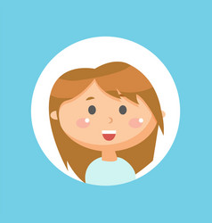 Excited cute smiling girl kid with smile on face vector
