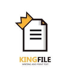 file logo Document icon vector image
