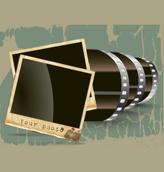 film with a photo vector image