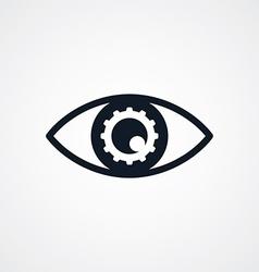 fix eye setting symbol theme vector image