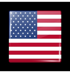 Flag of United States of America Square Icon vector