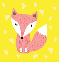 Fox for fashion print vector
