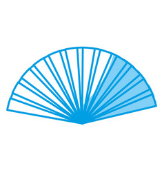Hand fan icon vector