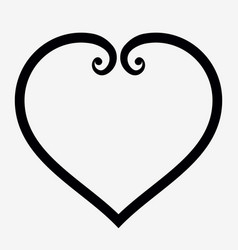 heart outline icon elegant minimal design style vector image