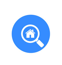 house apartment search icon vector image