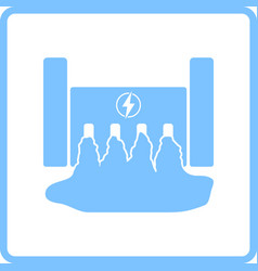 hydro power station icon vector image