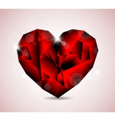 jewel heart symbol vector image