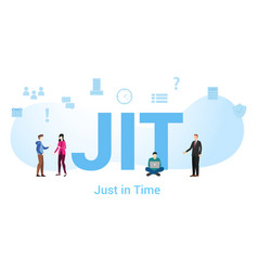 Jit just in time concept with big word or text vector