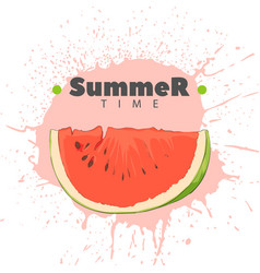 Juicy watermelon on a light background vector