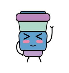 Kawaii cute funny soda food vector