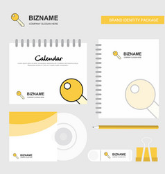 key logo calendar template cd cover diary and usb vector image