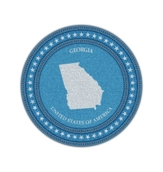 Label with map of georgia Denim style vector