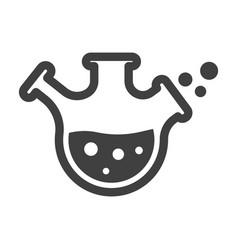 Laboratory flask icon minimalistic flask vector