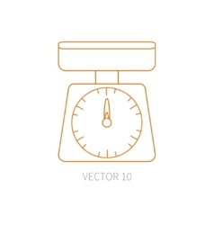 Line flat kitchenware icons - kitchen vector