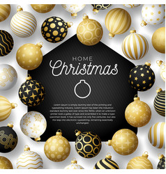 Luxury gold merry home christmas 2020 card vector