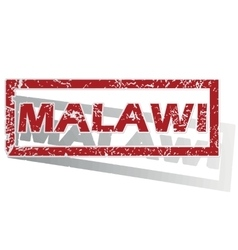 Malawi outlined stamp vector