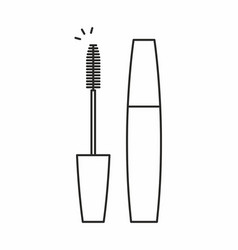 mascara for eyelashes icon vector image