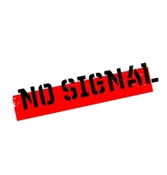 No Signal rubber stamp vector image