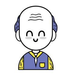 Old man teacher with uniform clothes vector