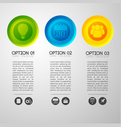 option pictograph buttons background vector image