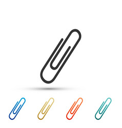 paper clip icon isolated on white background vector image