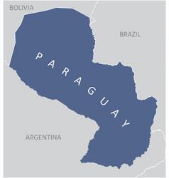 paraguay region map vector image