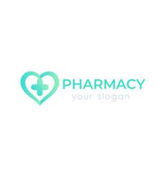 pharmacy logo isolated on white vector image