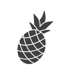 Pineapple glyph icon vector
