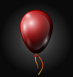 Realistic red balloon with ribbon isolated vector