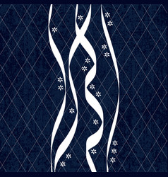 Sashiko indigo dye pattern with traditional vector