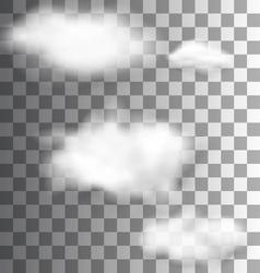Set Fluffy Transparent Clouds vector image vector image
