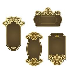 set retro frames for wedding templates vector image