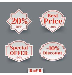 set sale paper retro labels vector image