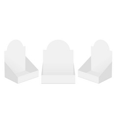 set three pos display boxes isolated vector image