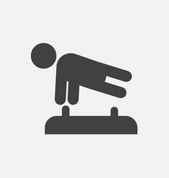 Shows a gymnast performing acrobatic movements vector
