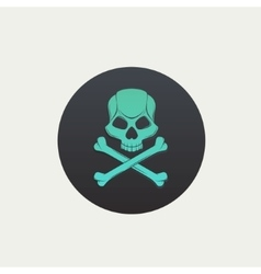 Skull and crossbones black spot vector image