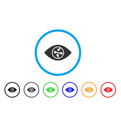 Smart contact lens rounded icon vector