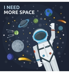 Space And Man Concept vector
