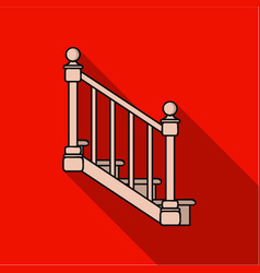 Stairs icon in flat style isolated on white vector